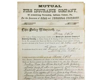 Antique insurance policy